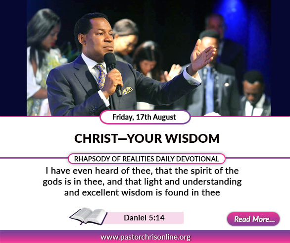 Today's Rhapsody Devotional - CHRIST- YOUR WISODM