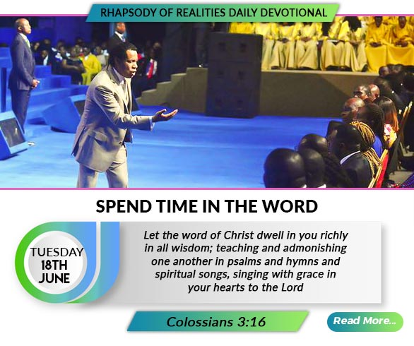 SPEND TIME IN THE WORD