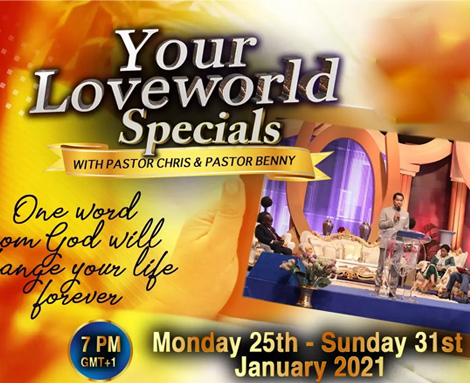 YOUR LOVEWORLD SPECIALS WITH PASTOR CHRIS AND PASTOR BENNY