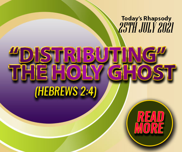 """""""DISTRIBUTING"""" THE HOLY GHOST"""