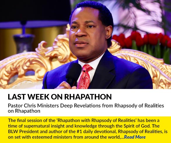 Pastor Chris Ministers Deep Revelations from Rhapsody of Realities on Rhapathon