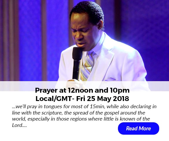 Prayer at 12noon and 10pm (Local/GMT) - Fri May 25
