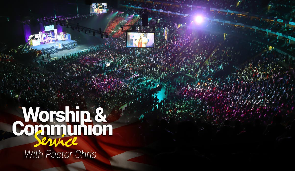 WORSHIP AND COMMUNION SERVICE WITH PASTOR CHRIS AT THE O2 ARENA, LONDON