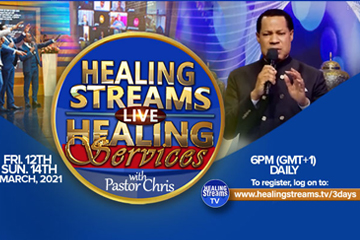 BILLIONS TO PARTICIPATE IN THE UPCOMING HEALING STREAMS LIVE HEALING SERVICES WITH PASTOR CHRIS