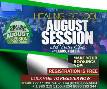 HEALING SCHOOL AUGUST SESSION LAGOS- NIGERIA WITH PASTOR CHRIS