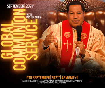 SEPTEMBER 2021 GLOBAL COMMUNION SERVICE WITH PASTOR CHRIS