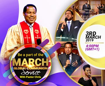 March 2019 Global Communion Service with Pastor Chris